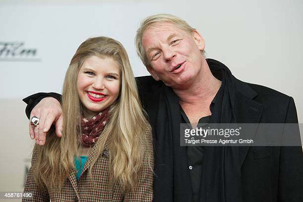 Ben Becker and Lilith Becker attend the 'Die Mannschaft' premiere at Potsdamer Platz on November 10 2014 in Berlin Germany