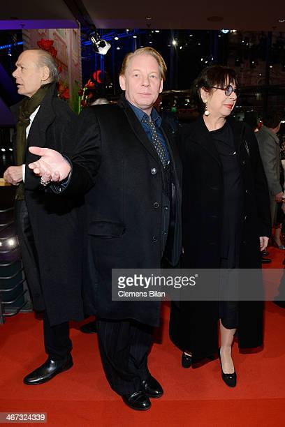 Ben Becker and Monika Hansen attend 'The Grand Budapest Hotel' Premiere and opening ceremony during the 64th Berlinale International Film Festival at...