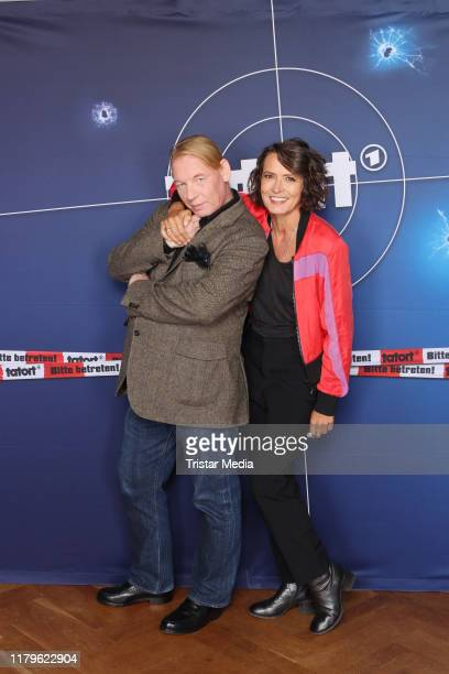 Ben Becker and Ulrike Folkerts during the 30 Jahre Lena Odenthal Tatort set visit on October 2 2019 in Hamburg Germany