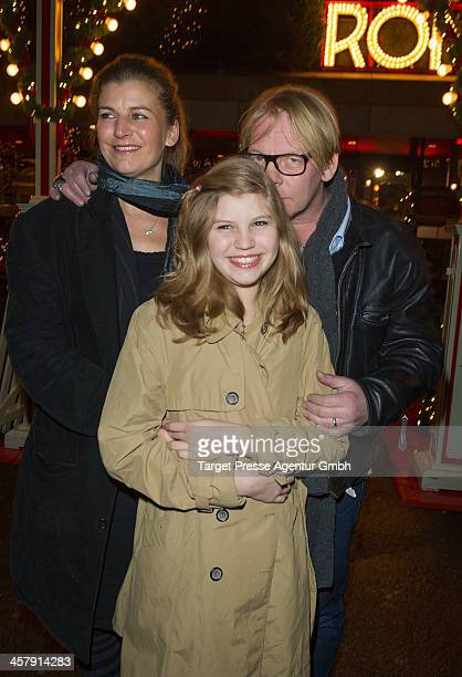 Ben Becker Lilith Becker and his wife Astrid Seidl attend the 10th Roncalli Christmas Circus at Tempodrom on December 19 2013 in Berlin Germany