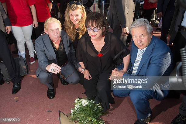 Ben Becker Monika Hansen and Klaus Wowereit attend the reopening of the Berlin Walk of Fame on September 4 2014 in Berlin Germany