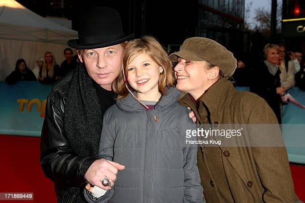 Ben Becker with girlfriend Anne Seidel And Daughter at the Premiere Of Lilith movie Arthur And The Invisibles The Return Of Maltazard In the Cinestar...