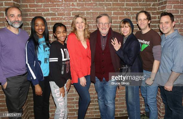 Ben Beckley, Thursday Williams, Rosdely Ciprian, Playwright/Performer Heidi Schreck, Steven Spielberg, Kate Capshaw, Mike Iveson and Director Oliver...