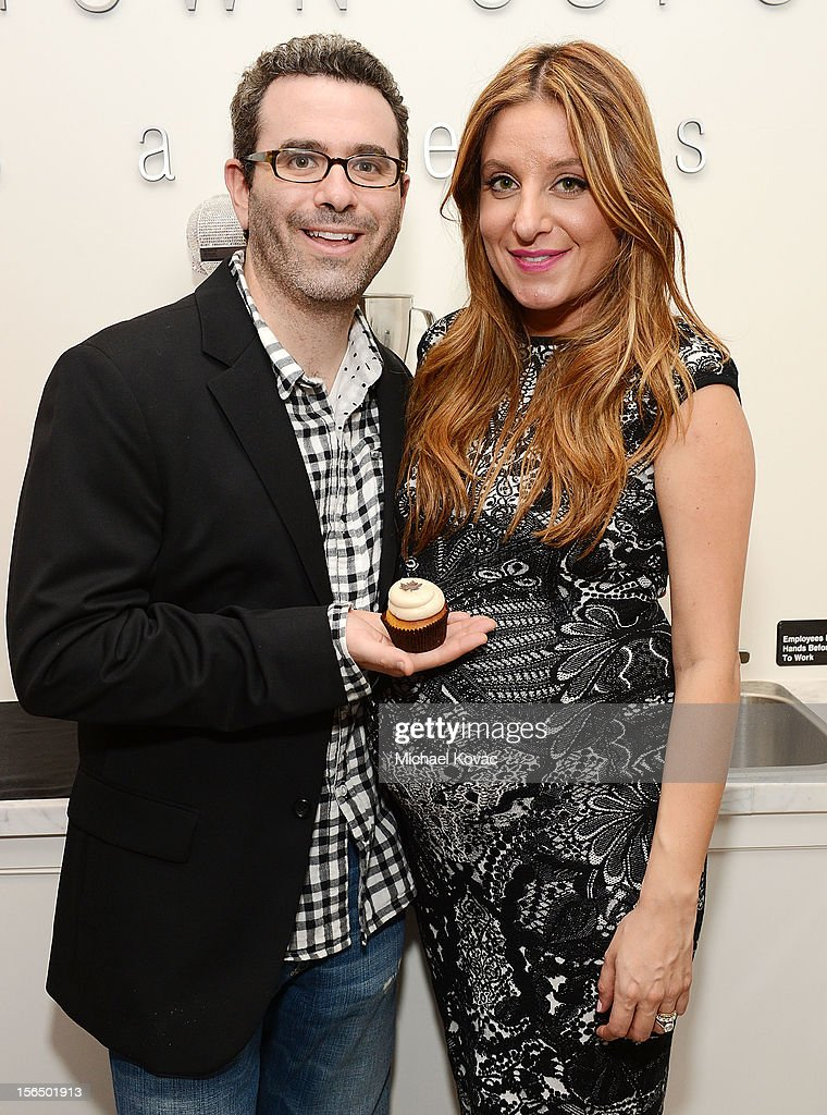 Ben Berman (L) and co-owner Katherine Kallinis Berman attend the Los Angeles Grand Opening of Georgetown Cupcake Los Angeles on November 15, 2012 in Los Angeles, California.
