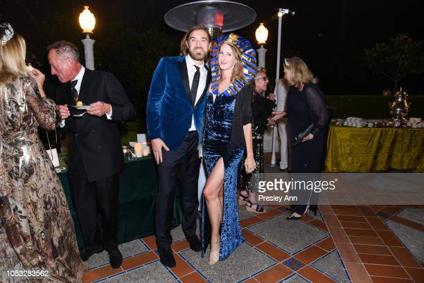 Ben Berube and Allison Luvera attend Hearst Castle Preservation Foundation Hollywood Royalty Dinner at Hearst Castle on September 28 2018 in San...