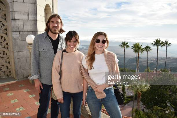 Ben Berube Michelle Randolph and Rebecca Ravel attend Hearst Castle Preservation Foundation Associate Trustees' Tour at Hearst Castle on September 27...