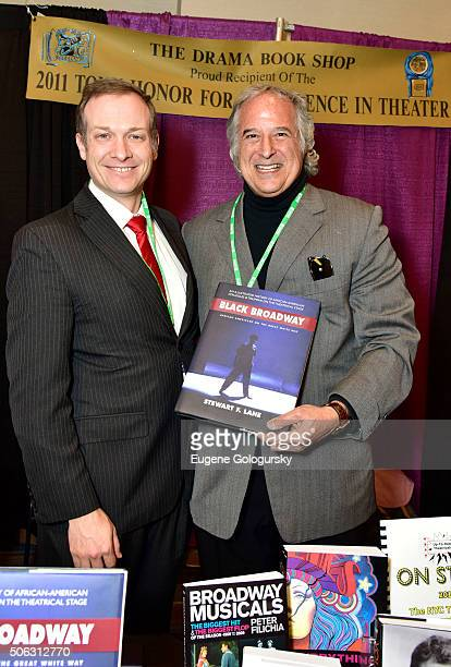 """Ben Birney and Stewart F. Lane attend the Stewart F. Lane Book Signing Of """"Black Broadway"""" At BroadwayCon at New York Hilton on January 22, 2016 in..."""