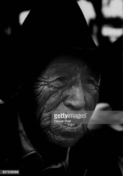 Ben Black Elk an old Oglala Sioux from Keystone SD watches ceremony His father fought with Crazy Horse in Battle of Little Big Horn Credit Denver...