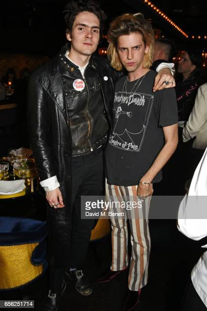 Ben Blackmore and Bunny Kinney attend the Another Man Spring/Summer Issue launch dinner in association with Kronaby at Park Chinois on March 21 2017...