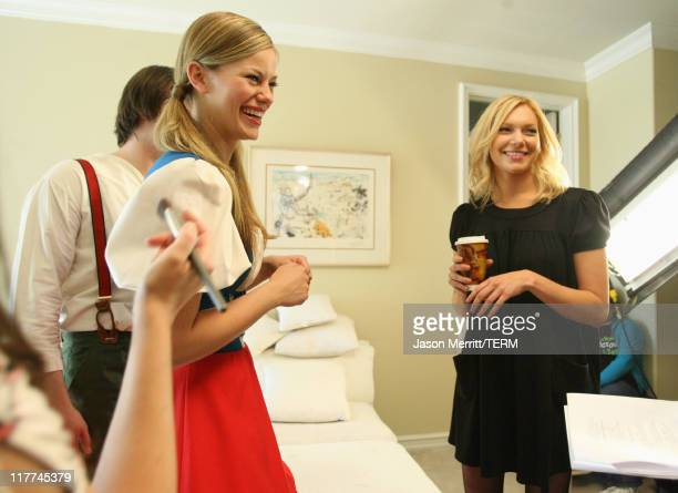 Ben Blair Cassidy Freeman and Laura Prepon during Laura Prepon Shoots a Short Film with Stayfree Girls in the Director's Chair at Private Residence...