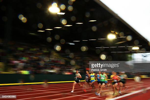 Ben Blankenship competes in the first round of the Men's 1500 Meter during the 2016 U.S. Olympic Track & Field Team Trials at Hayward Field on July...