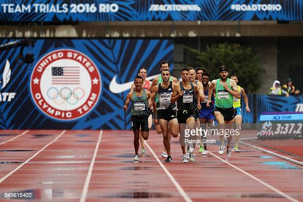 Ben Blankenship, Matthew Centrowitz and Robby Andrews compete in the Men's 1500 Meter Semi-Finals during the 2016 U.S. Olympic Track & Field Team...