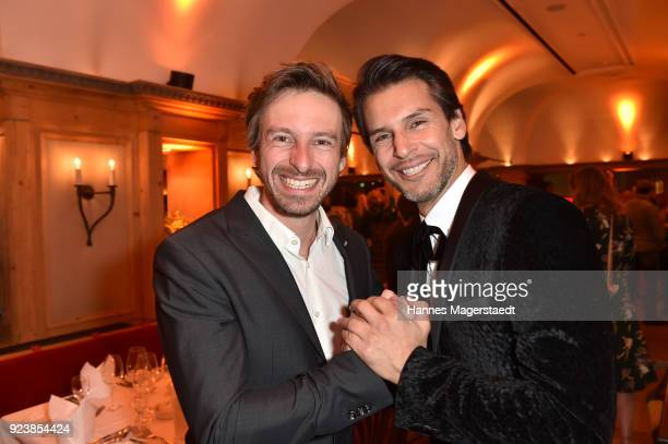 Ben Blaskovic and Florian Odendahl during the 40th anniversary celebration of the ZDF TV series SOKO Munich at Seehaus on February 24 2018 in Munich...