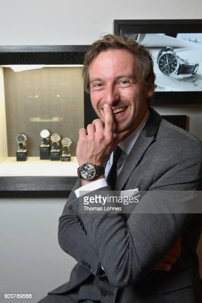 Ben Blaskovic attends the Glashuette Original Lounge at The 68th Berlinale International Film Festival at Grand Hyatt Hotel on February 19 2018 in...