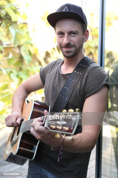 Ben Blaskovic poses during a photo session backstage before his release concert for his new album 'Those Who Dig' at Lovelace on July 19 2018 in...