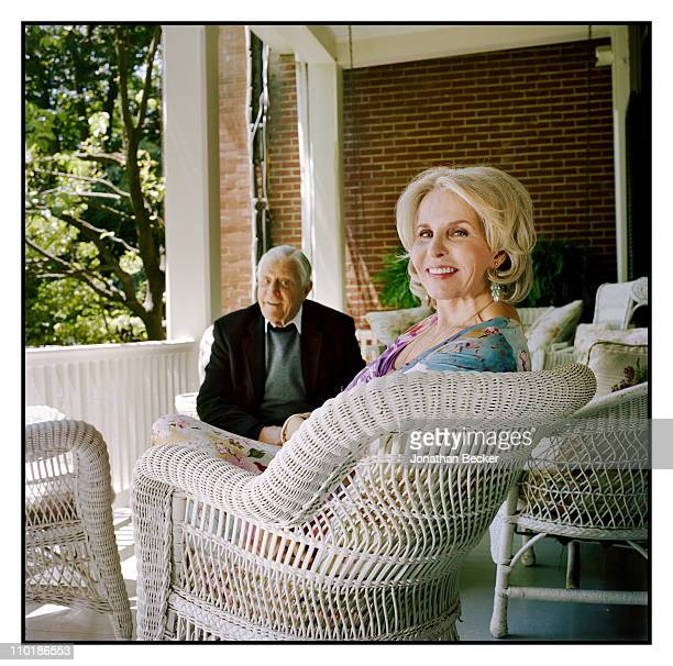 Ben Bradlee and Sally Quinn are photographed at home for Vanity Fair Magazine on May 10 2010 in Washington DC Published image