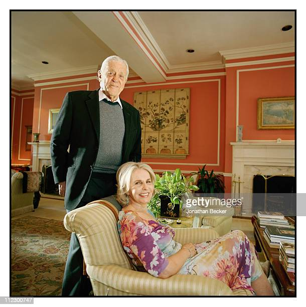 Ben Bradlee and Sally Quinn are photographed at home for Vanity Fair Magazine in Washington DC