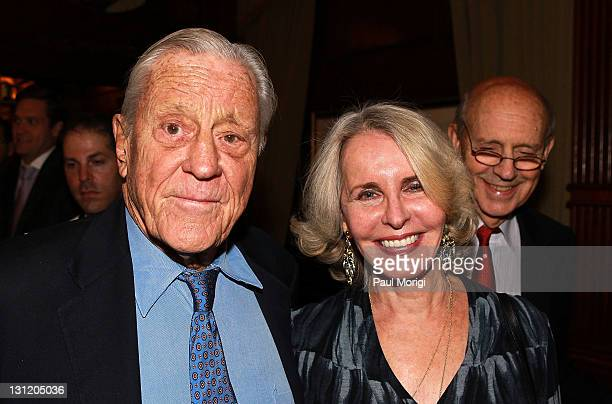Ben Bradlee and Sally Quinn attend Chris Matthews' 'Jack Kennedy Elusive Hero' book release party at The HayAdams on November 2 2011 in Washington DC