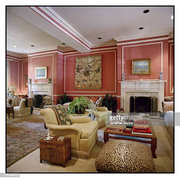 Ben Bradlee and Sally Quinn's home is photographed for Vanity Fair Magazine in Washington DC