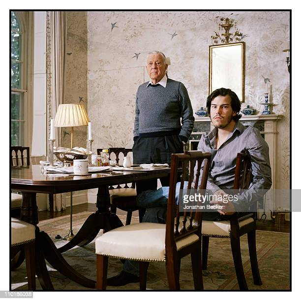 Ben Bradlee and son Quinn Bradlee are photographed at home for Vanity Fair Magazine on May 10 2010 in Washington DC Published image