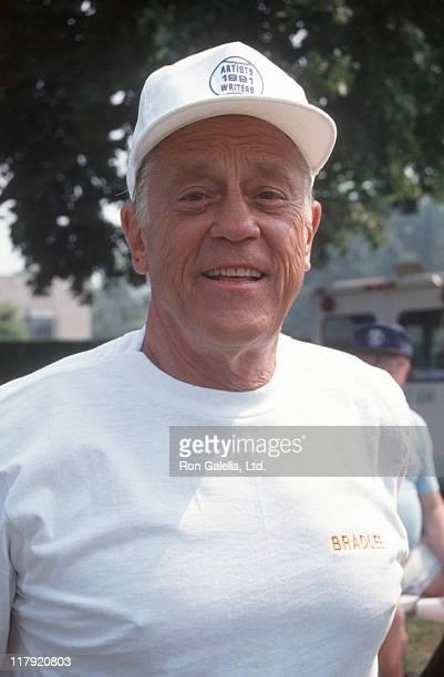 Ben Bradlee during 1991 Writers Vs Artists Softball Game in East Hampton New York United States