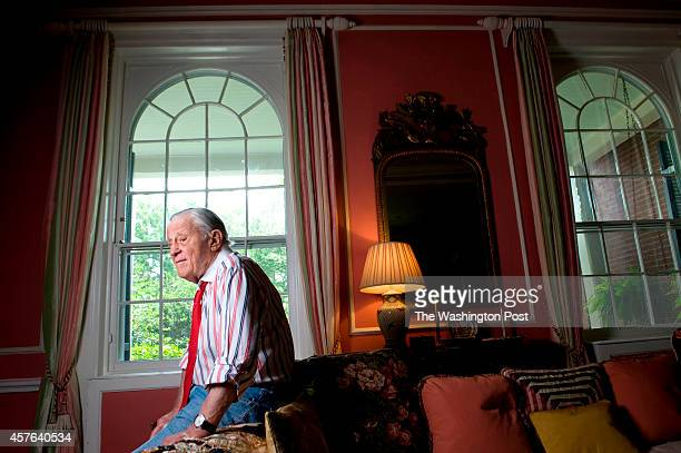 Ben Bradlee executive editor of The Washington Post via Getty Images during the Watergate era is photographed at his home in Washington DC on Sunday...