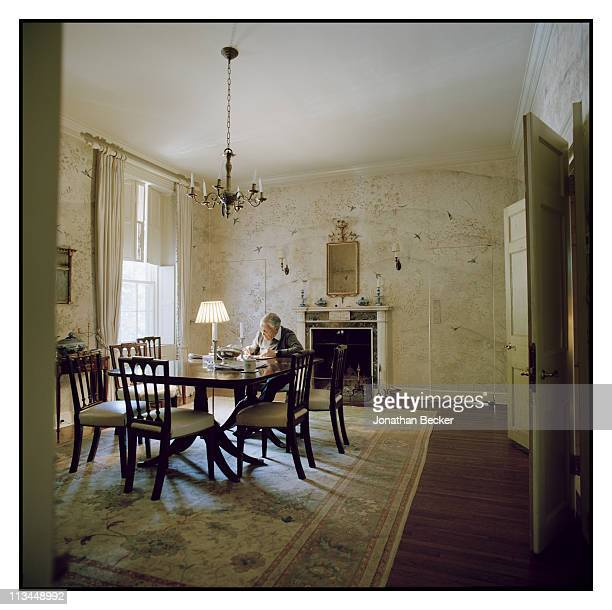 Ben Bradlee is photographed at home for Vanity Fair Magazine in Washington DC