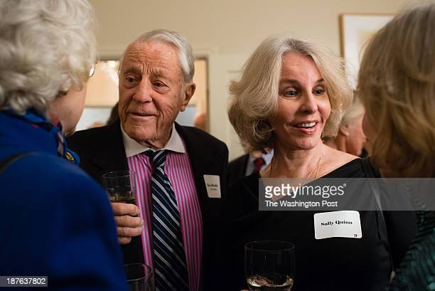 Ben Bradlee left and Sally Quinn are pictured at the event On Saturday November 9 more than 50 years after John F Kennedy was sworn in as President...