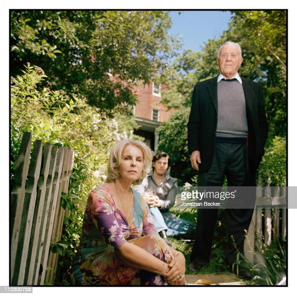 Ben Bradlee Sally Quinn and son Quinn Bradlee are photographed at home for Vanity Fair Magazine in Washington DC
