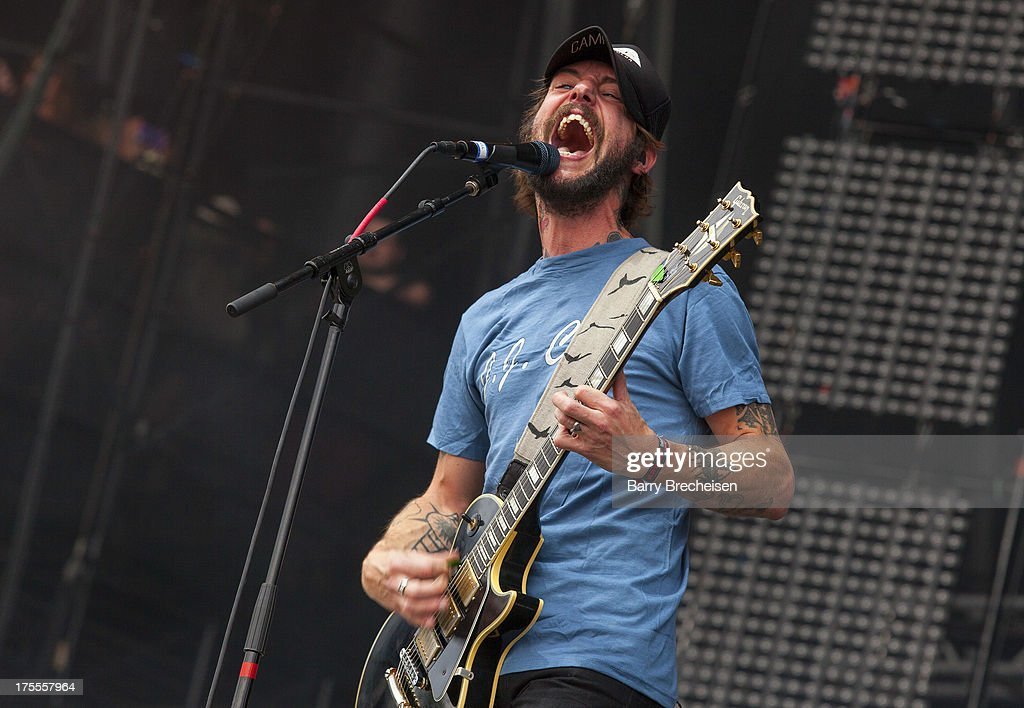 Ben Bridwell of Band of Horses performs during Lollapalooza 2013 at Grant Park on August 2, 2013 in Chicago, Illinois.