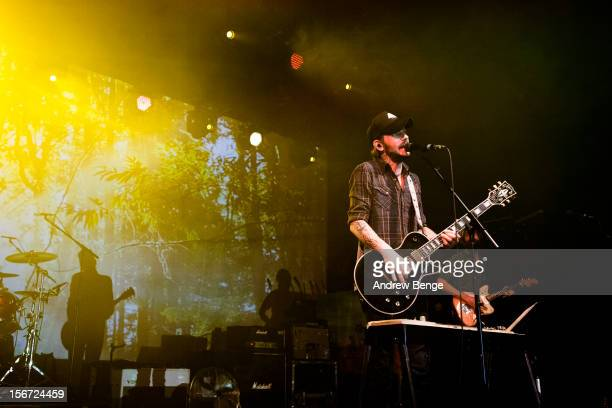 Ben Bridwell of Band of Horses performs on stage at Manchester Academy on November 19, 2012 in Manchester, United Kingdom.