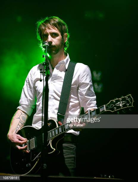 Ben Bridwell of US rock group Band of Horses performs on day three of the Reading Festival at Richfield Avenue on August 29 2010 in Reading England