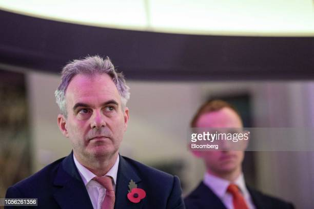 Ben Broadbent deputy governor for monetary policy at the Bank of England pauses during a news conference to launch the character selection process...