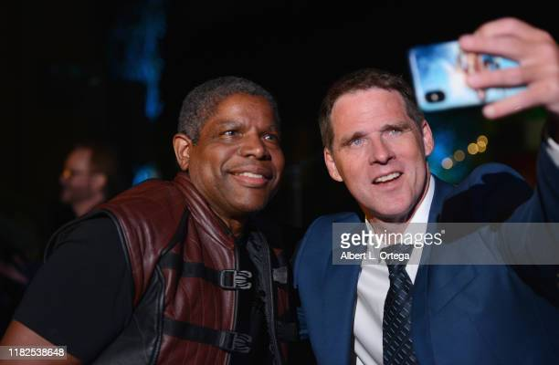 Ben Browder takes a selfie with Thomas Parham while attending Farscape - The Uncharted Territories: A 20th Anniversary Celebration held at Jim Henson...