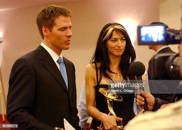 Ben Browder winner for Best Actor on Television for 'Farscape Peacekeeper Wars' and Claudia Black winner for Best Actress on Television for 'Farscape...