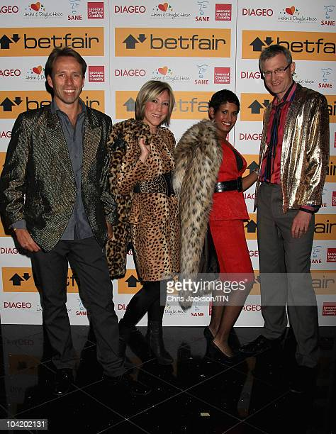 Ben Brown Joanna Gosling Naga Munchetty and Jeremy Vine from BBC News during a portrait session at Betfair's 'Newsroom's Got Talent' which raises...