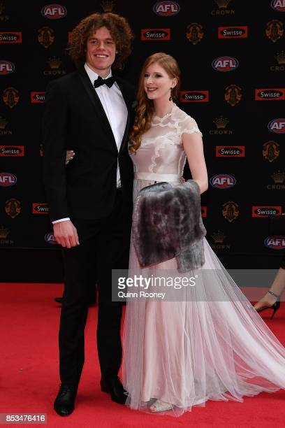 Ben Brown of the Kangaroos Hester Mary arrive ahead of the 2017 Brownlow Medal at Crown Entertainment Complex on September 25 2017 in Melbourne...