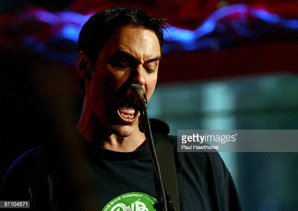 Ben Burnley of Breaking Benjamin performs live on FUSE TV's Daily Download show July 21 2004 in New York City