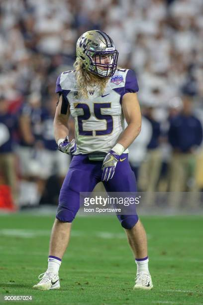 Ben BurrKirven of the Washington Huskies in the Fiesta Bowl game between the Washington Huskies and the Penn State Nittany Lions on December 30 2017...