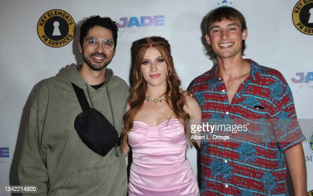 Ben Byram, Jade Patteri and Joe Ederer attend the EP Release Party for Jade Patteri held at The Federal NoHo on September 21, 2021 in North...