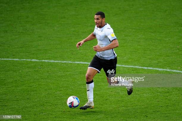 Ben Cabango of Swansea City in action during the Sky Bet Championship match between Swansea City and Huddersfield Town at the Liberty Stadium on...