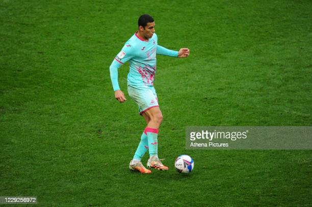 Ben Cabango of Swansea City in action during the Sky Bet Championship match between Bristol City and Swansea City at Ashton Gate on October 24 2020...