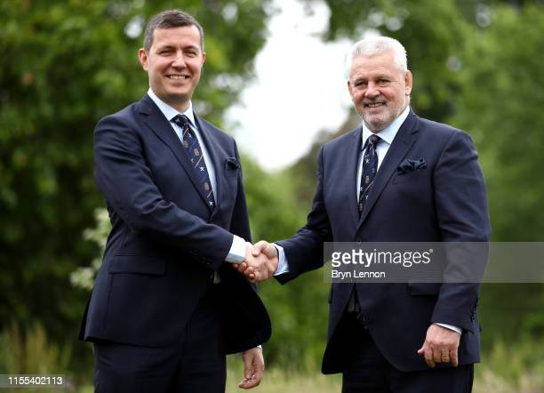 Ben Calveley British and Irish Lions Managing Director and Warren Gatland the newly appointed British and Irish Lions Head Coach pose for a photo...