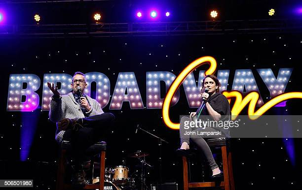 Ben Cameron and Lesli Margherita attend BroadwayCon 2016 at the Hilton Midtown on January 23 2016 in New York City