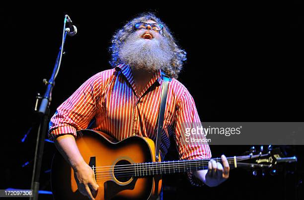 Ben Caplan performs on stage at O2 Shepherd's Bush Empire on July 1 2013 in London England