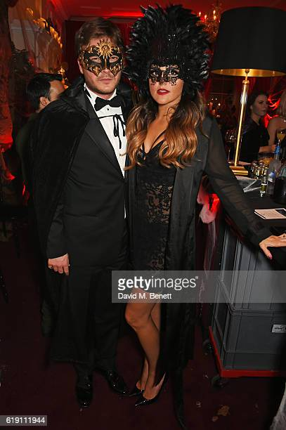Ben Caring and Elle Caring attend Halloween at Annabel's at 46 Berkeley Square on October 29 2016 in London England