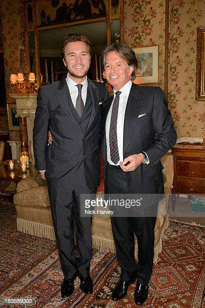 Ben Caring and Richard Caring attend Nicola and James Stephenson Tracey Emin and Johnny Bergius VIP Party at Mark's Club on October 7 2013 in London...