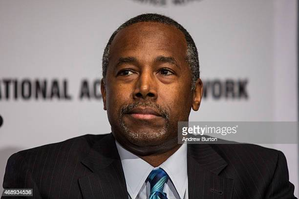 Ben Carson attends the National Action Network national convention at the Sheraton New York Times Square Hotel on April 8 2015 in New York City The...