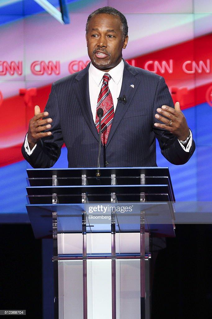 CNN Hosts The Republican Presidential Candidate Debate : News Photo