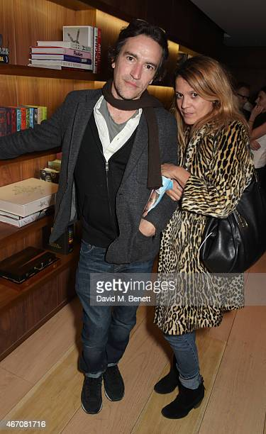 Ben Chaplin and Lisa Moorish attend Sienna Guillory's birthday party at The London Edition Hotel on March 20 2015 in London England